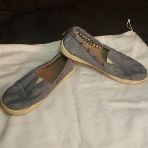 Toms Denim Canvas Size 3.5
